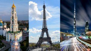 Troitse-Sergijevin luostari, Eiffel-torni, Burj Kalifa