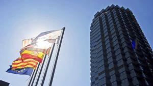 Caixabankin pääkonttori Barcelonassa.