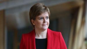 Skotlannin pääministeri ja Skotlannin kansanpuolueen johtaja Nicola Sturgeon.
