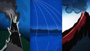 Savuttajat, meteorit ja tulivuoret olivat ehkä elämän synnyn takana.
