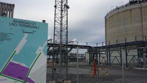Skangasin LNG-kaasuterminaali Porin Tahkoluodossa