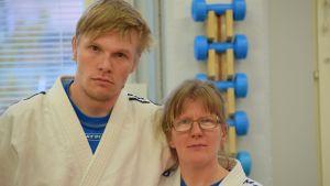 Mikkeliläiset Jani Kokkonen ja Piia Komppa lähtevät sovelletun judon MM-kisoihin. Sovellettu judo on laji pääasiassa kehitysvammaisille.