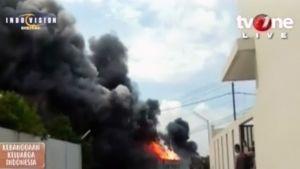 Indonesia iloulitetehdas räjähdys.