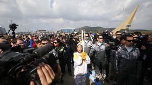Olympiatuli saapui PyeongChangiin keskiviikkona 1. marraskuuta 2017.