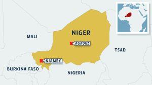 Nigerin kartta.