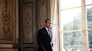 Ranskan presidentti Emmanuel Macron Elysee-palatsissa.