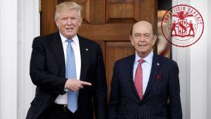 Donald Trump ja Wilbur Ross.