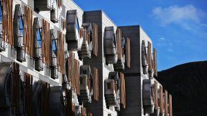 Skotlannin parlamenttitalo.