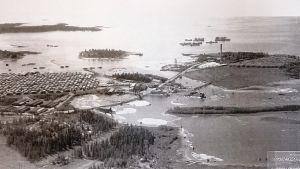 Martinniemen saha ilmakuvassa