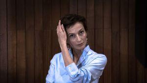 Unescon uusi pääsihteeri Audrey Azoulay järjestön päämajassa Pariisissa 13.10.2017