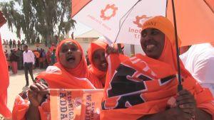 Kampanjatilaisuus Somalimaassa.