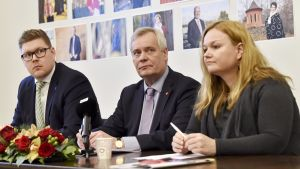 Antti Lindtman, Antti Rinne ja Krista Kiuru
