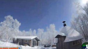 meteoriitin valaisema taivas