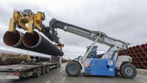 Nord Stream maakaasuputken osia.