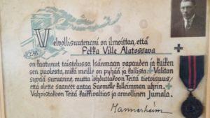 Pekka Alatossavasta suruvalittelut.