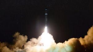 Pohjois-Korea testasi ohjusta 30.11.2017.