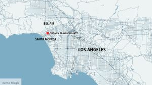 Los Anglesin kartta.