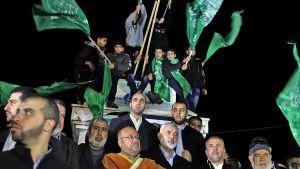 Palestiinalaiset protestoivat Yhdysvaltain presidentin ilmoitusta vastaan Gazassa, Gazan kaistalla 6. joulukuuta 2017.