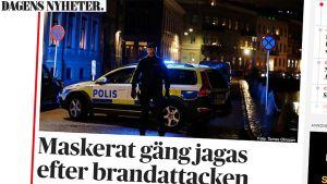 Kuvakaappaus Dagens Nyheter -uutissivustolta.