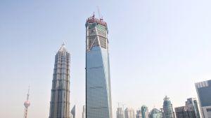 Shanghai World Financial Centeriä rakennettiin 2007.