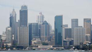 Sydneyn sataman pilvenpiirtäjiä.