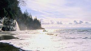 Näkymä Vancouverin rannikolta.