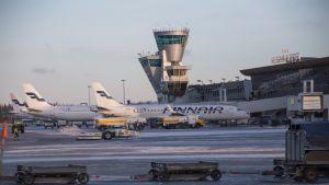 Helsinki-Vantaan lentoasema 14.12.2017.