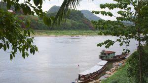 Mekong-jokea Laosissa.