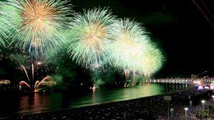 Ilotulituksia Copacabanalla Brasiliassa
