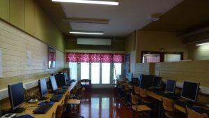Datasalen i Haga skola.