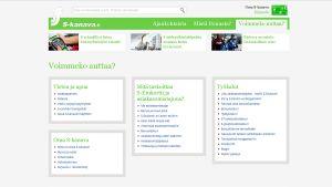 Näkymä S-kanavan verkkosivulta