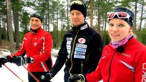 Kolme kovaa: Jaakko Alalahti, Sami Vuoti ja Saila Salmela
