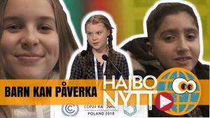 Svenska Greta Thunberg inspirerar hela världen