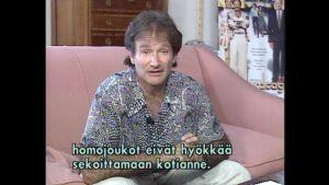 Robin Williams puhuu homojen oikeuksista