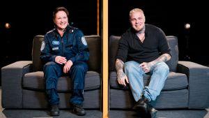 Olet osa jotain suurempaa: tatuoija Vesa ja poliisi Jaana