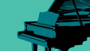 Tummansinisten tuntien musiikkia