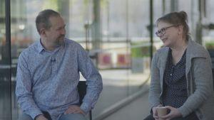 Haastattelussa Taija ja Ilari Angervo
