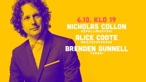 RSO:n konsertti: Nicholas Collon & Alice Coote & Brenden Gunnell