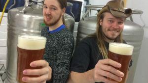 Patrik Niskanen och Matti Laakso startade ett bryggeri i S:t Karins.