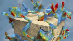 Bild som visar hur vätskor flödar genom ett material.