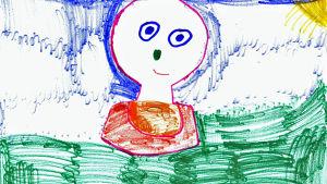Den här färggranna BUU-stämpeln har Jenna ritat.