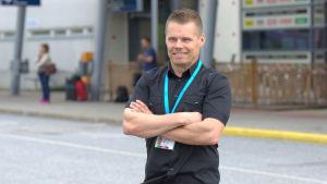 Petri Lampi, chef på Vasa flygplats.