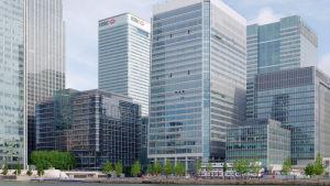 Läkemedelsverket i London (byggnaden i mitten)
