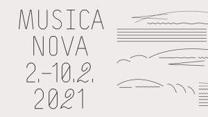 Musica nova Helsinki -festivaalin graafinen ilme