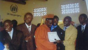 Lukogo Byona på sin examensdag i Malawi.