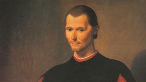 Detalj ur Santi di Titos porträtt av Machiavelli