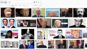Googles sökresultat.