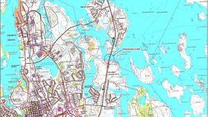 Karta över Jakobstad