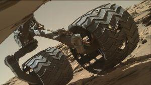 Curiosityn pyörät alkavat hajota kovassa käytössä.