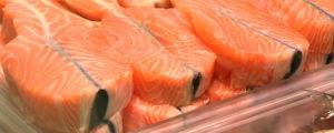 Fiskmedaljonger på rad i en ask.